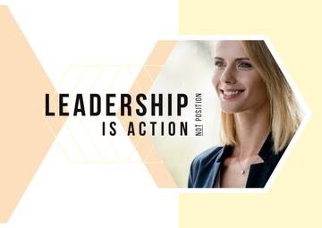 Leadership Concept with Confident Young Woman