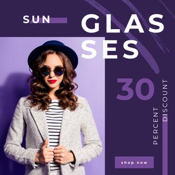 Glasses Offer with Woman Wearing Sunglasses