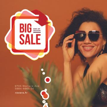 Fashion Sale Ad Woman in Sunglasses