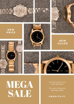 Luxury Accessories Sale with Golden Watch